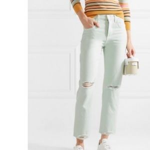 NWT JBRAND cropped straight leg jeans